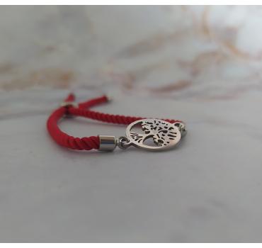 Bransoletka sznurkowa, drzewo szczęścia srebrny