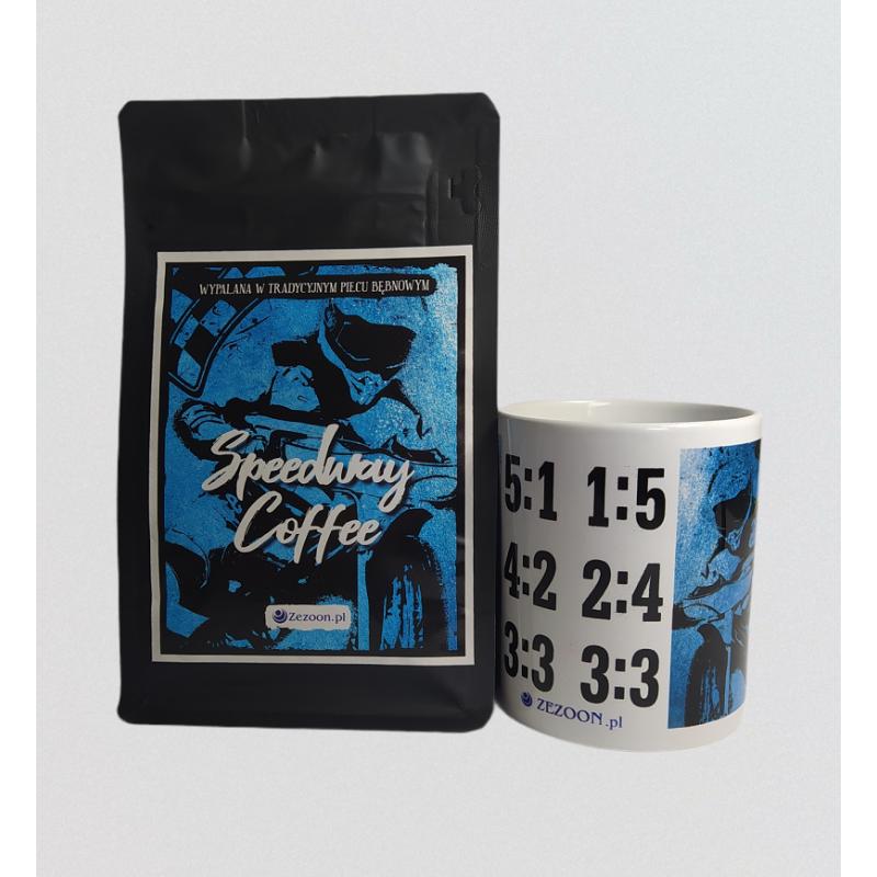 Zestaw Speedway Coffee - kawa ziarnista + kubek