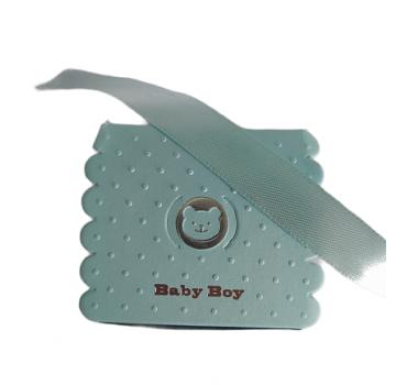 Małe pudełeczko prezentowe niebieskie. Opakowanie prezentowe niebieskie