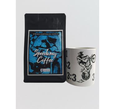Zestaw Speedway Coffee - kawa mielona + kubek