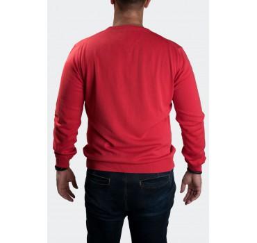 Sweter czerwony tył