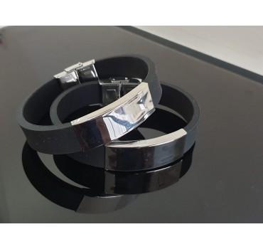 Bransoleta silikonowa, szeroka czarna