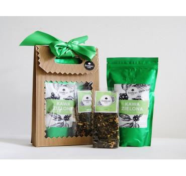 Zestaw Green: kawa zielona + herbata Oaza