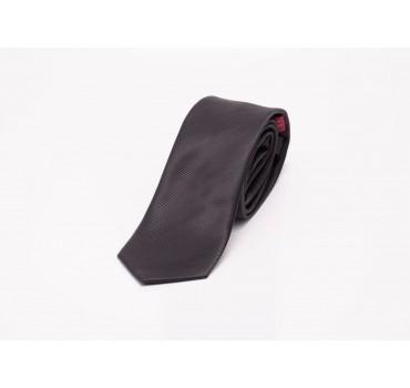 Krawat czarny w prążki