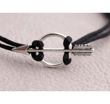Bransoletka czarna strzała