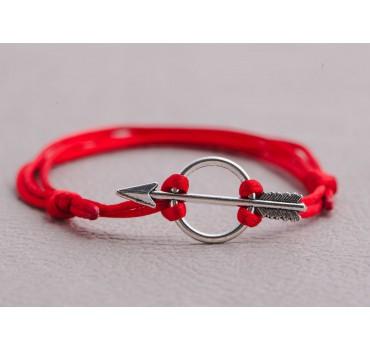 Bransoletka czerwony sznurek strzała