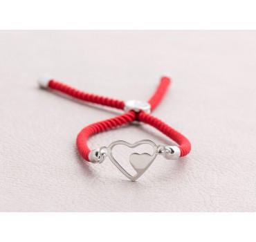 Bransoletka czerwone serca
