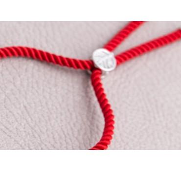 Bransoletka czerwony krzyż zapinka