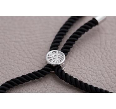 Bransoletka czarny krzyż zapinka
