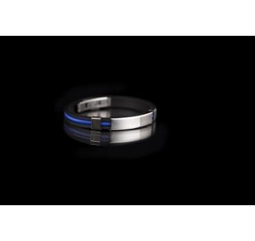 Bransoleta silikonowa czarno-niebieska 02 cm